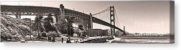 San Francisco - Golden Gate Bridge - 06 Canvas Print by Gregory Dyer