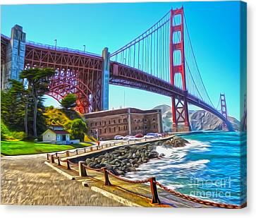 San Francisco - Golden Gate Bridge - 11 Canvas Print by Gregory Dyer