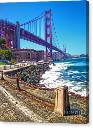 San Francisco - Golden Gate Bridge - 12 Canvas Print by Gregory Dyer