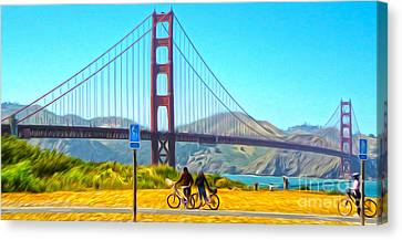 San Francisco - Golden Gate Bridge - 13 Canvas Print by Gregory Dyer