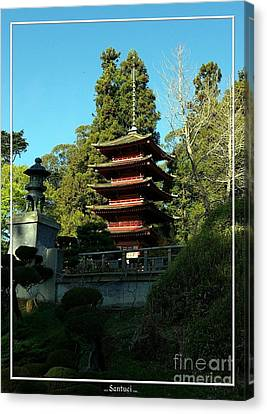 San Francisco Golden Gate Park Japanese Tea Garden 8 Canvas Print by Robert Santuci