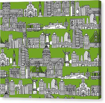 San Francisco Green Canvas Print
