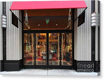 San Francisco Gumps Store Doors - 5d20588 Canvas Print by Wingsdomain Art and Photography