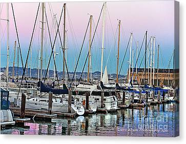 San Francisco Harbor At Pier 39 Canvas Print by Artist and Photographer Laura Wrede