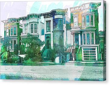 San Francisco Homes Canvas Print