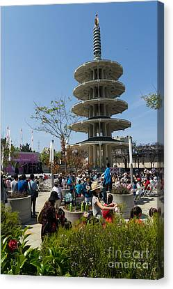 San Francisco Japantown Cherry Blossom Festival Dsc986 Canvas Print by Wingsdomain Art and Photography