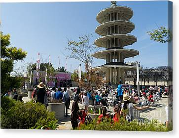 San Francisco Japantown Cherry Blossom Festival Dsc988 Canvas Print by Wingsdomain Art and Photography