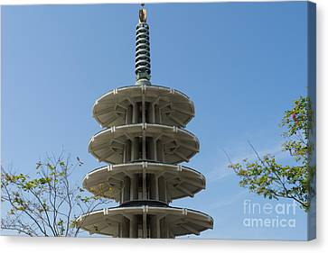 San Francisco Japantown Pagoda Dsc991 Canvas Print by Wingsdomain Art and Photography