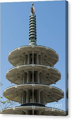 San Francisco Japantown Pagoda Dsc994 Canvas Print by Wingsdomain Art and Photography