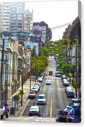 San Francisco - Lombard Street Canvas Print by Gregory Dyer