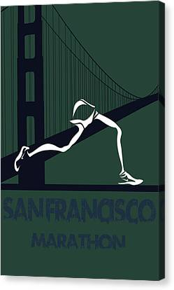 San Francisco Marathon Canvas Print by Joe Hamilton
