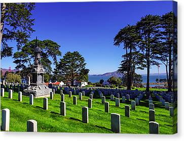 San Francisco National Cemetery Canvas Print by Scott McGuire
