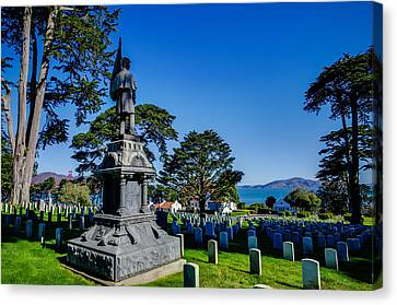 San Francisco National Cemetery Soldiers Memorial Canvas Print by Scott McGuire