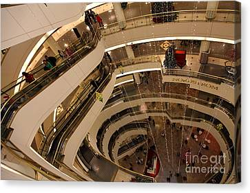 San Francisco Nordstrom Department Store - 5d20641 Canvas Print by Wingsdomain Art and Photography