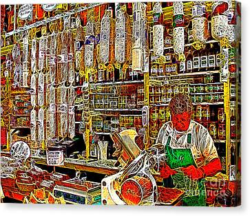 San Francisco North Beach Deli 20130505v1 Canvas Print by Wingsdomain Art and Photography