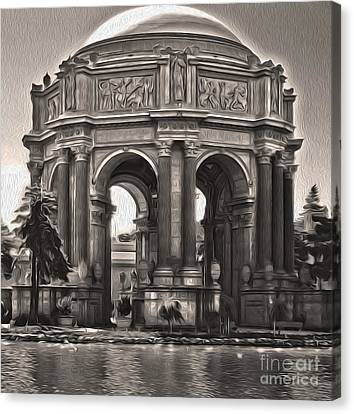 San Francisco - Palace Of Fine Arts - 01 Canvas Print by Gregory Dyer