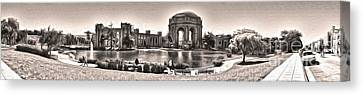 San Francisco - Palace Of Fine Arts - 03 Canvas Print by Gregory Dyer