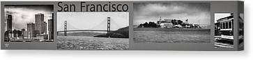Framed Canvas Print - San Francisco Panorama Art by David Millenheft