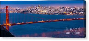 San Francisco Panorama Canvas Print by Inge Johnsson