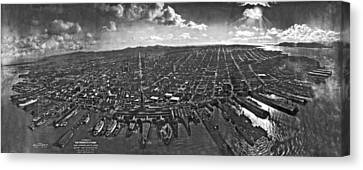 San Francisco Panorama Canvas Print by Underwood Archives
