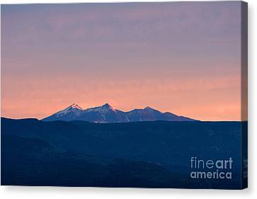 San Francisco Peaks At Sunrise Canvas Print by Ron Chilston