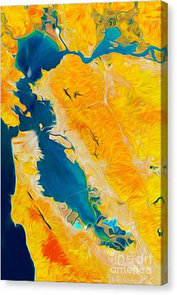 San Francisco Canvas Print by Art Gallery Earth