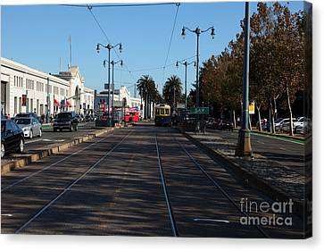 San Francisco Pier Along The Embarcadero 5d26156 Canvas Print by Wingsdomain Art and Photography