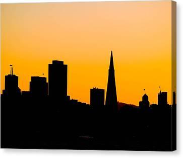 San Francisco Silhouette Canvas Print by Bill Gallagher