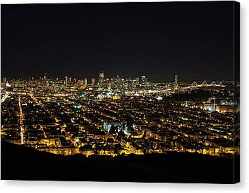 Canvas Print featuring the photograph San Francisco Skyline by Dave Files
