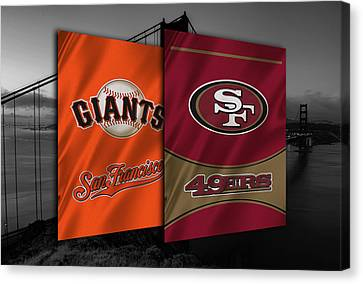 Baseball Uniform Canvas Print - San Francisco Sports Teams by Joe Hamilton