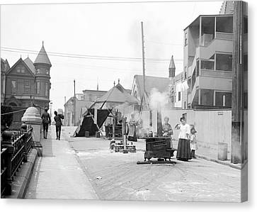 Sociology Canvas Print - San Francisco Street Cooking by Library Of Congress
