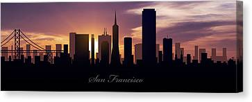 San Francisco Sunset Canvas Print by Aged Pixel