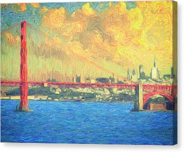 San Francisco Canvas Print by Taylan Apukovska