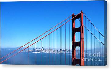 Sausalito Canvas Print - San Francisco - The City With The Golden Gate by Pete Edmunds