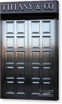 San Francisco Tiffany And Company Store Doors - 5d20561 Canvas Print by Wingsdomain Art and Photography