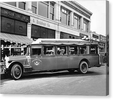 San Francisco To Portland Bus Canvas Print by Keystone Photo Service