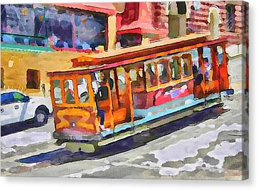 San Francisco Trams 5 Canvas Print by Yury Malkov