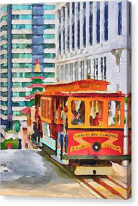 San Francisco Trams 6 Canvas Print by Yury Malkov