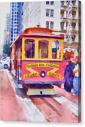 San Francisco Trams 7 Canvas Print by Yury Malkov