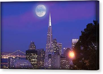 San Francisco - A Golden Handcuff Canvas Print by Douglas MooreZart