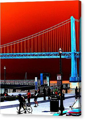 Canvas Print featuring the photograph San Francisco Unique Processing by Maggy Marsh