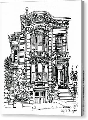 San Francisco Victorian   Canvas Print