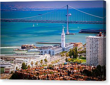 San Francisco Waterfront Canvas Print by Celso Diniz