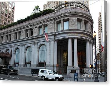 Sanfrancisco Canvas Print - San Francisco Wells Fargo Building - 5d20603 by Wingsdomain Art and Photography