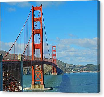 San Francisco's Golden Gate Bridge Canvas Print by Emmy Marie Vickers