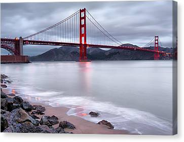 Canvas Print featuring the photograph San Francisco's Golden Gate Bridge by Gregory Ballos