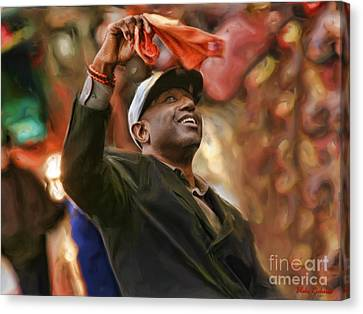 Barry Bonds Canvas Print - San Fransco Giants Barry Bonds by Blake Richards