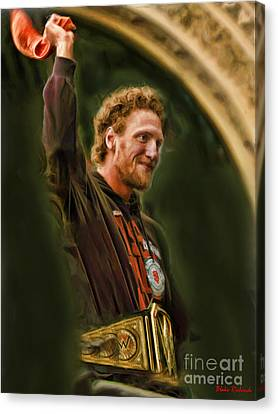 San Fransco Gaints Hunter Pence Canvas Print by Blake Richards