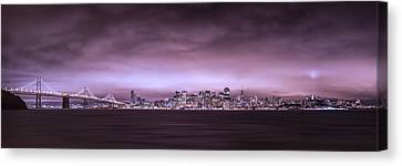 San Fransisco Cityscape Panorama Canvas Print by Brad Scott