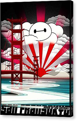 San Fransokyo Home Of The Baymax Canvas Print by Filippo B
